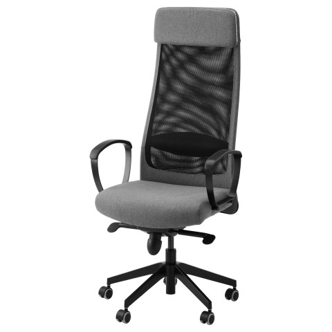 Рабочий стул МАРКУС серый артикуль № 402.611.42 в наличии. Онлайн сайт IKEA Республика Беларусь. Недорогая доставка и монтаж.