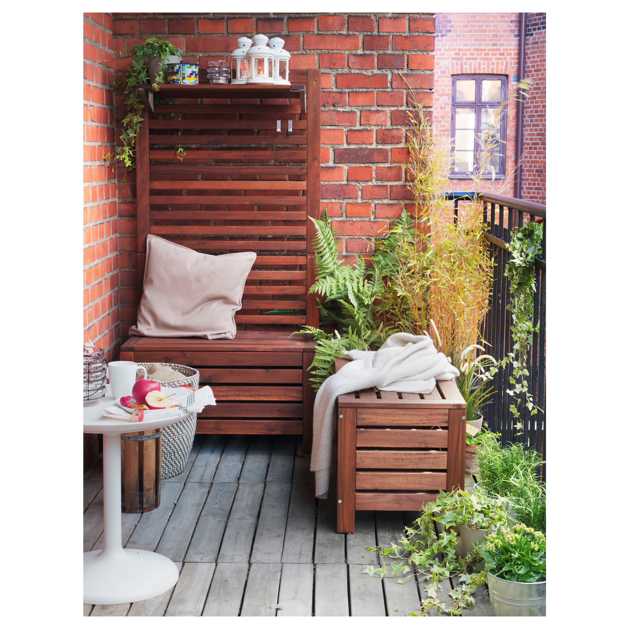 Купить садовая скамья с ящиком эпларо, коричневый коричневая.