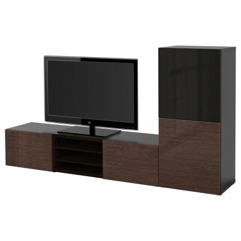 Шкаф для ТВ, комбинированный, стекляные дверцы БЕСТО артикуль № 090.632.05 в наличии. Онлайн сайт IKEA Беларусь. Быстрая доставка и монтаж.