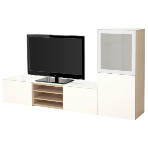 Шкаф для ТВ, комбинированный, стекляные дверцы БЕСТО артикуль № 190.986.00 в наличии. Online магазин IKEA Беларусь. Быстрая доставка и монтаж.