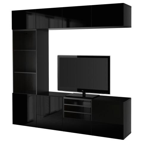 Шкаф для ТВ, комбинированный, стекляные дверцы БЕСТО артикуль № 290.984.83 в наличии. Интернет сайт ИКЕА РБ. Недорогая доставка и соборка.