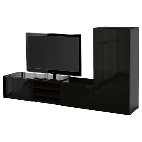 Шкаф для ТВ, комбинированный, стекляные дверцы БЕСТО артикуль № 390.986.23 в наличии. Интернет каталог IKEA Беларусь. Недорогая доставка и монтаж.