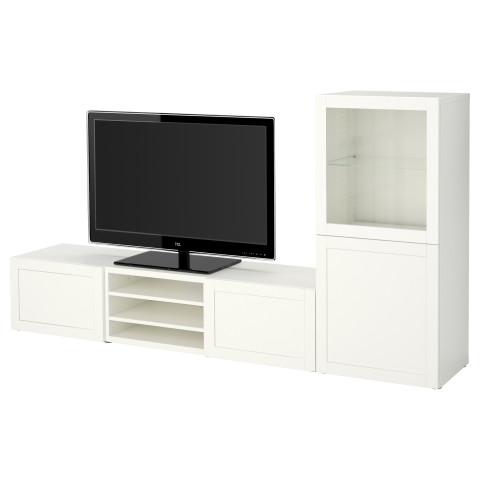 Шкаф для ТВ, комбинированный, стекляные дверцы БЕСТО артикуль № 890.674.93 в наличии. Интернет сайт IKEA Беларусь. Быстрая доставка и установка.