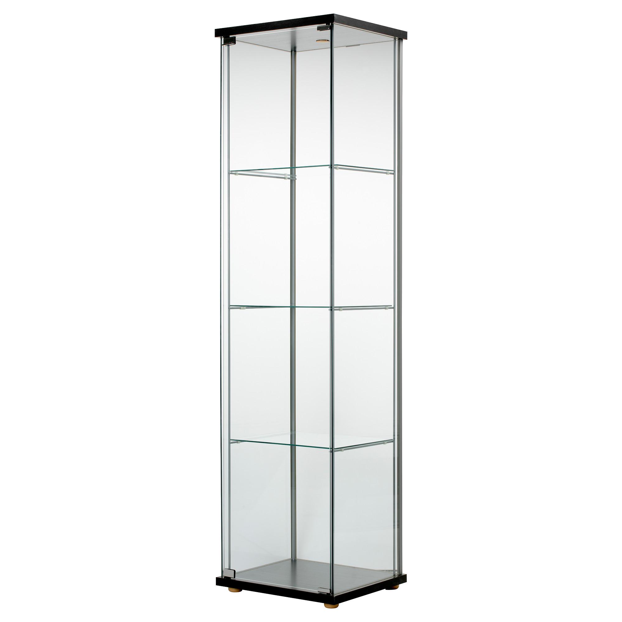 Шкаф-витрина ДЕТОЛЬФ, черно-коричневый (43x163 см). Шкаф-витрина ДЕТОЛЬФ че