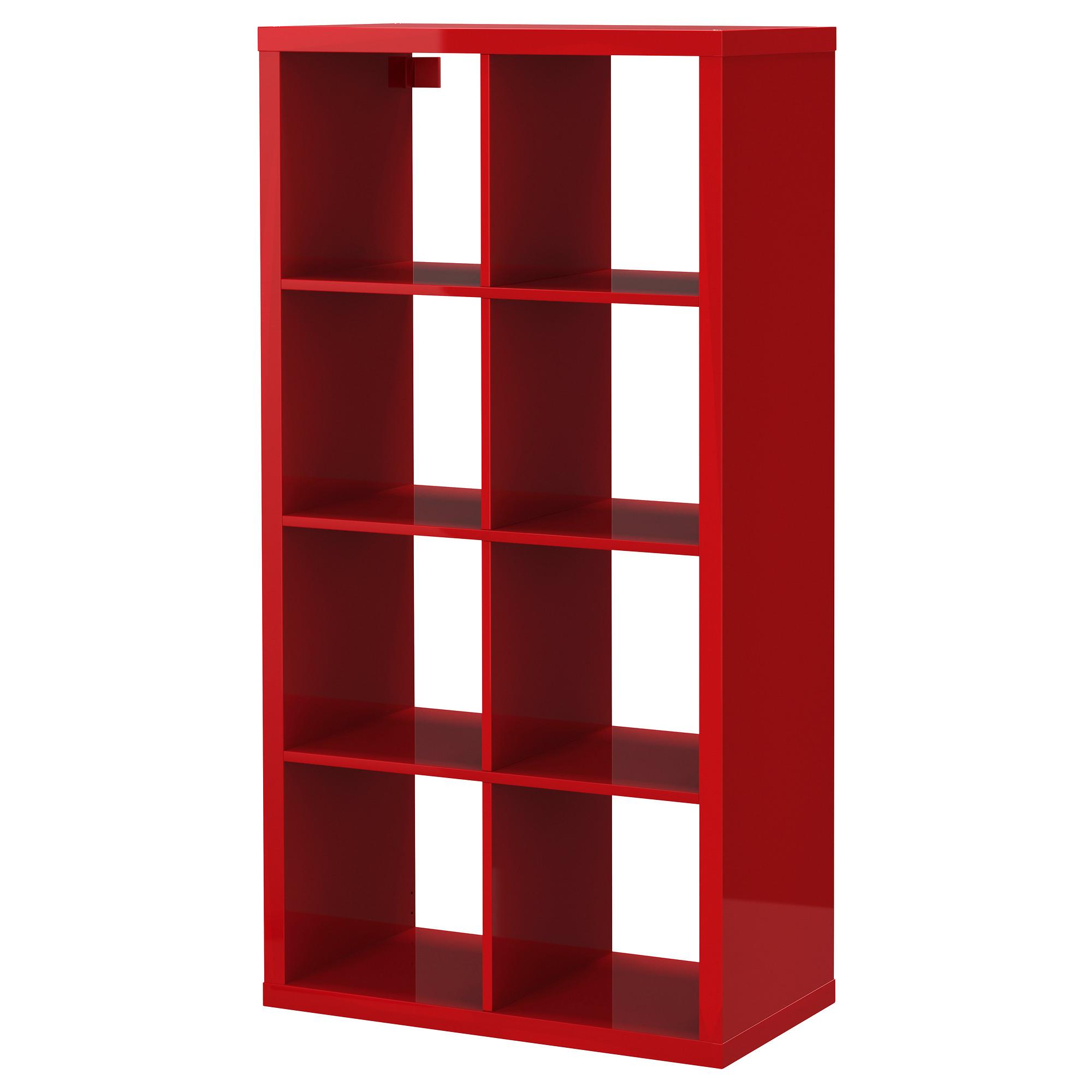 Купить стеллаж каллакс, глянцевый красный в ikea (минск). це.