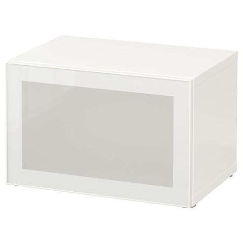 Стеллаж со стеклянной дверью БЕСТО белый артикуль № 190.469.70 в наличии. Онлайн магазин IKEA Минск. Быстрая доставка и соборка.