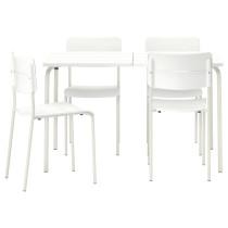 Стол + 4 стула, для сада ВЭДДО белый артикуль № 590.484.15 в наличии. Онлайн каталог IKEA Минск. Быстрая доставка и соборка.
