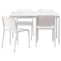 Стол и 4 стула МЕЛЬТОРП белый артикуль № 690.107.04 в наличии. Online сайт IKEA Республика Беларусь. Быстрая доставка и монтаж.