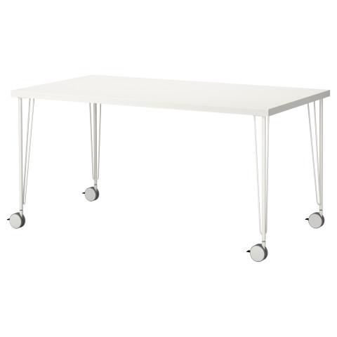 Стол ЛИННМОН / КРИЛЛЕ белый артикуль № 390.019.42 в наличии. Онлайн сайт IKEA РБ. Быстрая доставка и соборка.