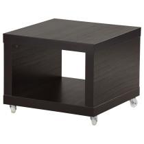 Стол приставной на колесах ЛАКК черно-коричневый артикуль № 901.984.12 в наличии. Интернет магазин IKEA Минск. Быстрая доставка и установка.