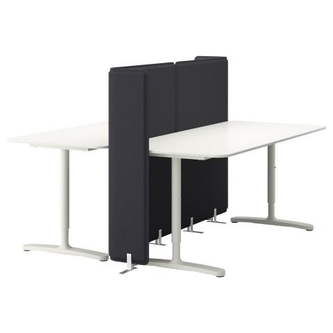 Стол с экраном БЕКАНТ белый артикуль № 690.470.57 в наличии. Интернет магазин IKEA Минск. Недорогая доставка и соборка.