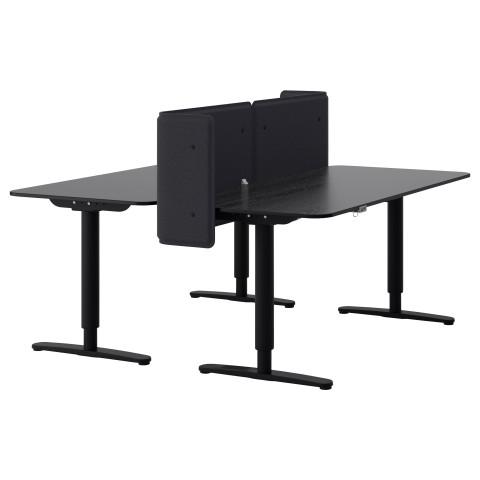 Стол-трансформер с экраном БЕКАНТ черный артикуль № 890.470.42 в наличии. Online каталог IKEA Минск. Недорогая доставка и установка.