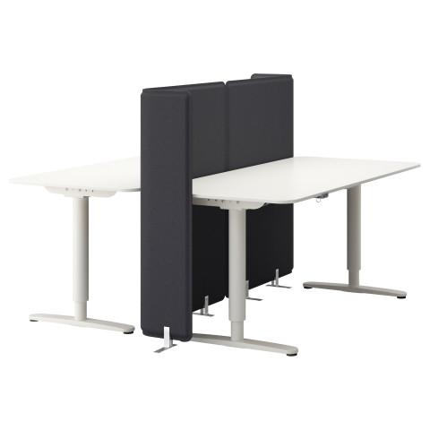 Стол-трансформер с экраном БЕКАНТ белый артикуль № 990.470.65 в наличии. Online сайт IKEA Минск. Быстрая доставка и установка.