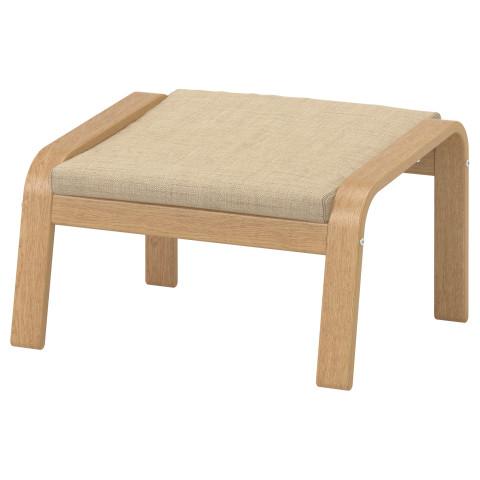 Табурет для ног ПОЭНГ бежевый артикуль № 190.108.05 в наличии. Онлайн магазин IKEA РБ. Недорогая доставка и установка.