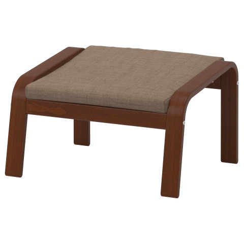 Табурет для ног ПОЭНГ коричневый артикуль № 490.108.61 в наличии. Интернет магазин IKEA РБ. Быстрая доставка и установка.