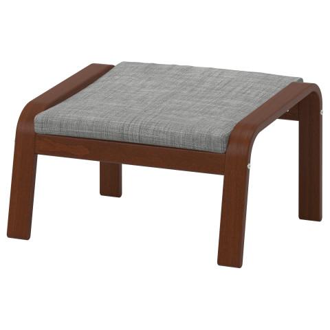Табурет для ног ПОЭНГ серый артикуль № 590.109.12 в наличии. Онлайн магазин IKEA Беларусь. Недорогая доставка и установка.