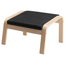 Табурет для ног ПОЭНГ черный артикуль № 798.150.47 в наличии. Online сайт IKEA Беларусь. Быстрая доставка и соборка.