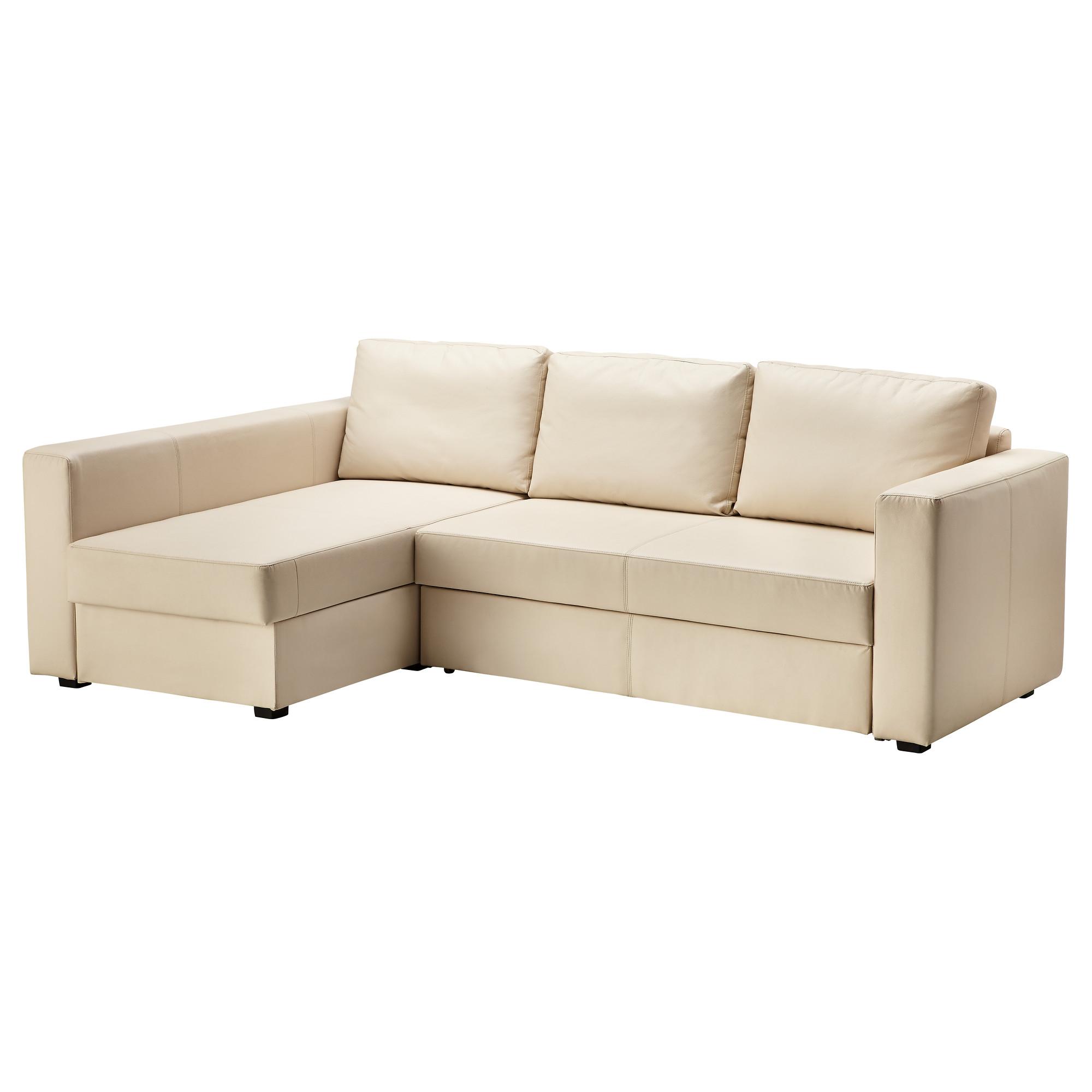 Угловой диван-кровать с отделением для хранения МОНСТАД бежевый артикуль №  502.643.00 в 9528b748597