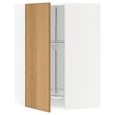 Угловой навесной шкаф с вращающейся секцией МЕТОД белый артикуль № 190.532.63 в наличии. Онлайн сайт IKEA РБ. Быстрая доставка и установка.