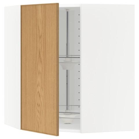 Угловой навесной шкаф с вращающейся секцией МЕТОД белый артикуль № 390.532.62 в наличии. Интернет сайт IKEA РБ. Недорогая доставка и установка.