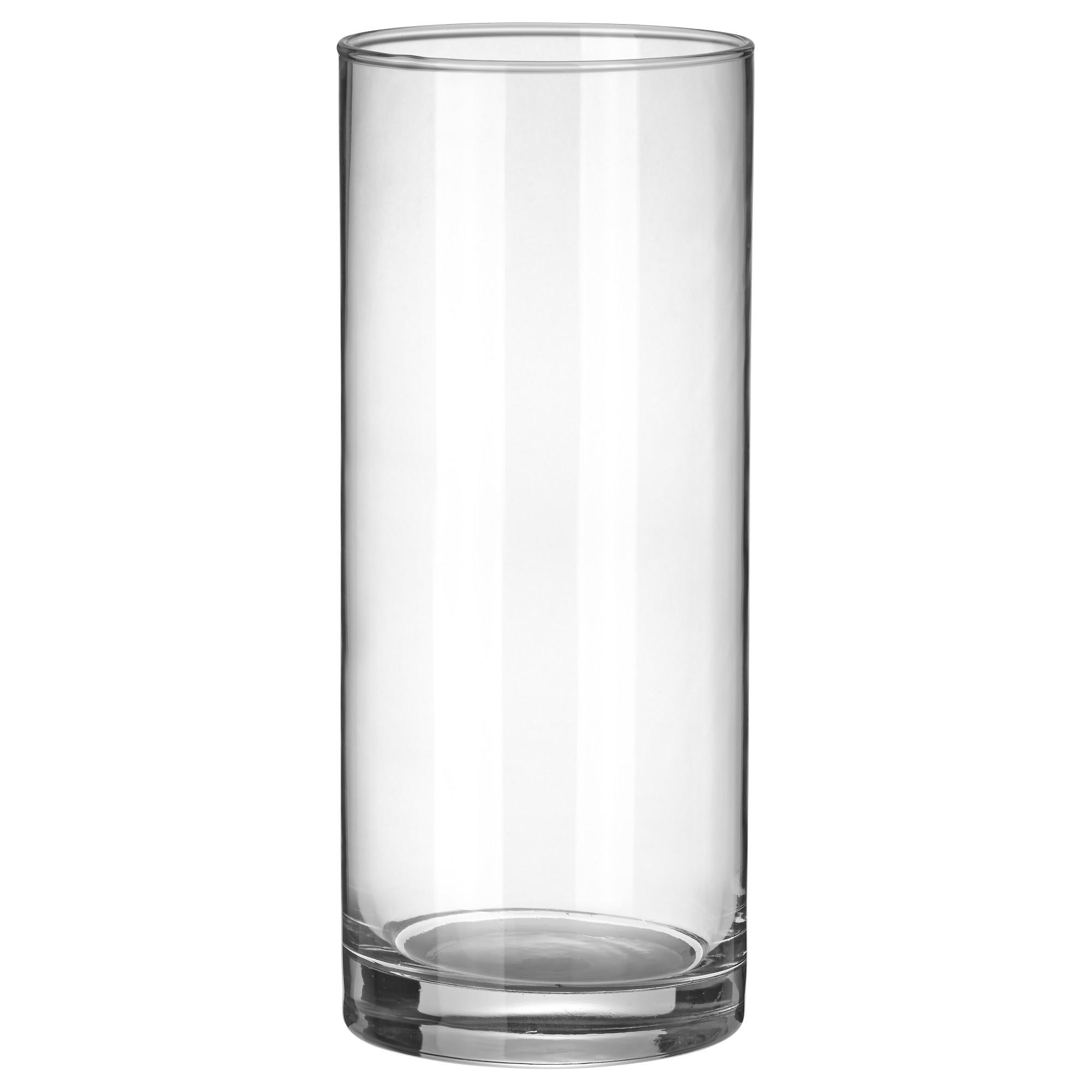 Ваза стеклянная цилиндр прозрачная высокая без узора