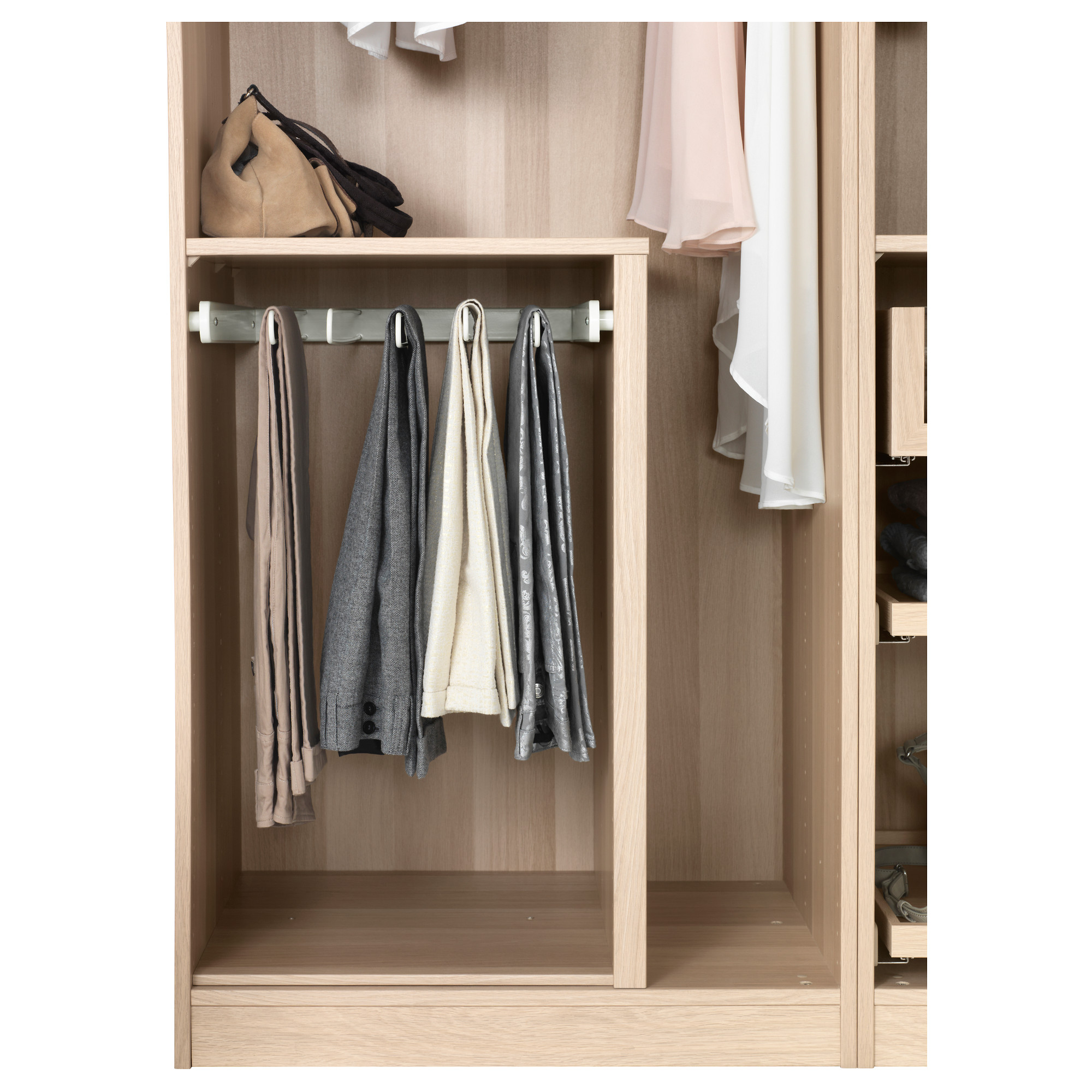 Купить выдвижная вешалка для брюк комплимент, белый в икеа (.