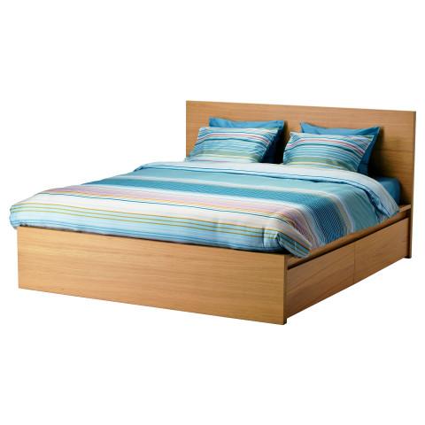 Высокий каркас кровати, 4 ящика МАЛЬМ артикуль № 090.226.77 в наличии. Интернет сайт ИКЕА Беларусь. Быстрая доставка и установка.