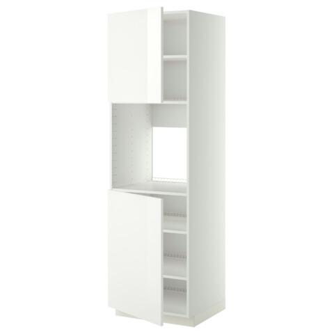 Высокий шкаф для духовки, 2 дверцы, полки МЕТОД белый артикуль № 090.276.94 в наличии. Онлайн каталог IKEA Минск. Быстрая доставка и соборка.