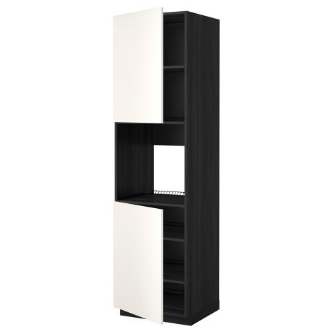 Высокий шкаф для духовки, 2 дверцы, полки МЕТОД белый артикуль № 290.277.25 в наличии. Интернет магазин IKEA Беларусь. Быстрая доставка и соборка.