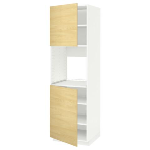 Высокий шкаф для духовки, 2 дверцы, полки МЕТОД белый артикуль № 590.276.96 в наличии. Интернет каталог IKEA Беларусь. Недорогая доставка и установка.