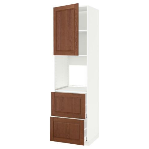 Высокий шкаф для духовки + дверца, 2 форнтальных, 2 высоких ящик МЕТОД / МАКСИМЕРА белый артикуль № 391.182.30 в наличии. Интернет магазин IKEA Минск. Быстрая доставка и установка.
