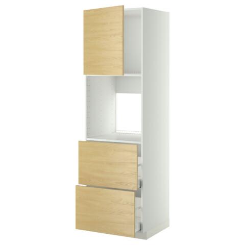 Высокий шкаф для духовки + дверца, 2 форнтальных, 2 высоких ящик МЕТОД / МАКСИМЕРА белый артикуль № 491.182.15 в наличии. Интернет сайт IKEA Республика Беларусь. Быстрая доставка и установка.