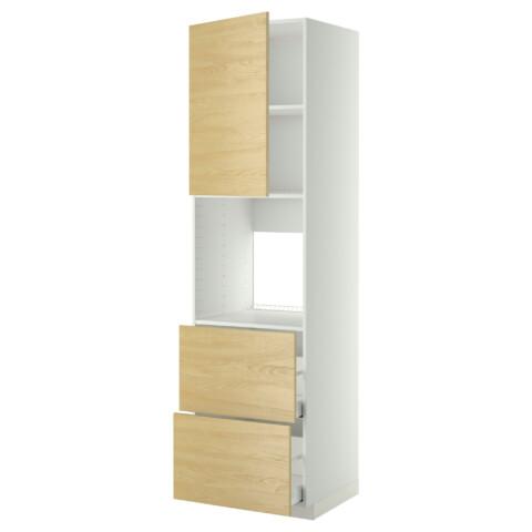 Высокий шкаф для духовки + дверца, 2 форнтальных, 2 высоких ящик МЕТОД / МАКСИМЕРА белый артикуль № 491.182.63 в наличии. Интернет магазин IKEA Республика Беларусь. Недорогая доставка и установка.
