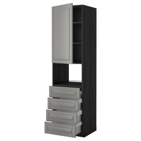 Высокий шкаф для духовки, дверца, 4 ящика МЕТОД / ФОРВАРА черный артикуль № 899.256.82 в наличии. Онлайн магазин IKEA Республика Беларусь. Недорогая доставка и установка.