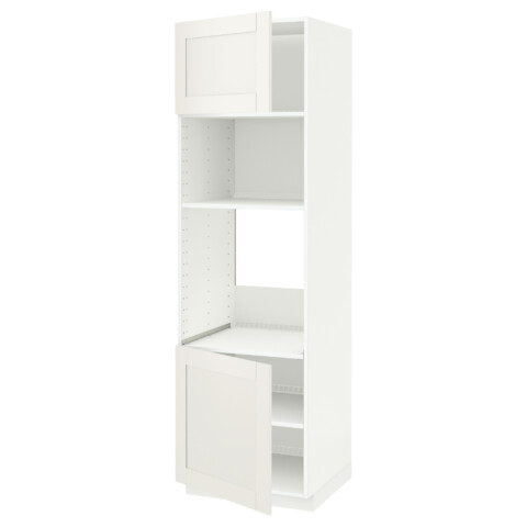 Высокий шкаф для духовки/СВЧ, 2 дверцы, полки МЕТОД белый артикуль № 290.641.95 в наличии. Online магазин ИКЕА РБ. Недорогая доставка и установка.