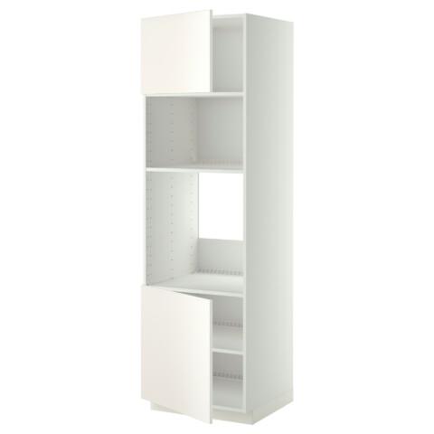 Высокий шкаф для духовки/СВЧ, 2 дверцы, полки МЕТОД белый артикуль № 390.278.95 в наличии. Интернет магазин IKEA Беларусь. Недорогая доставка и соборка.