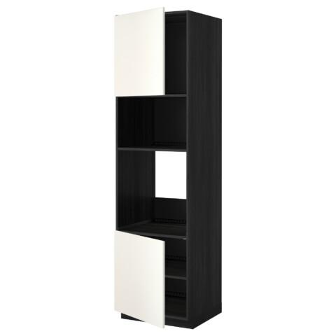 Высокий шкаф для духовки/СВЧ, 2 дверцы, полки МЕТОД белый артикуль № 390.279.18 в наличии. Интернет сайт IKEA Беларусь. Быстрая доставка и соборка.
