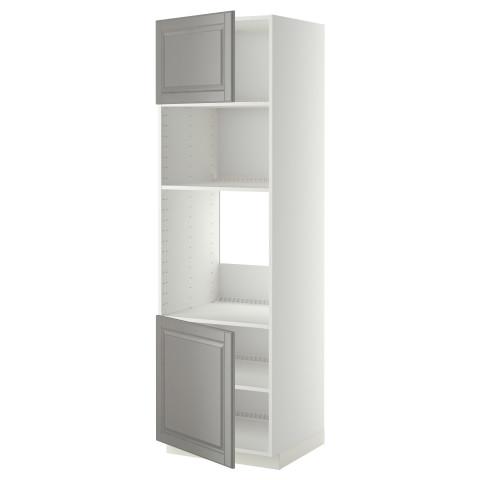 Высокий шкаф для духовки/СВЧ, 2 дверцы, полки МЕТОД белый артикуль № 990.278.97 в наличии. Интернет сайт IKEA Беларусь. Быстрая доставка и соборка.