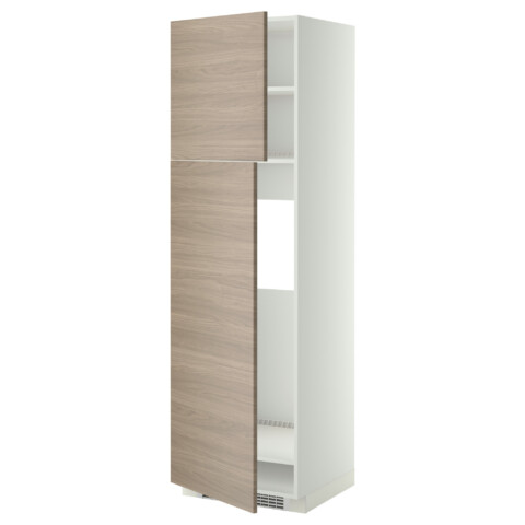 Высокий шкаф для холодильника, 2 дверцы МЕТОД белый артикуль № 099.254.45 в наличии. Online сайт IKEA Минск. Недорогая доставка и установка.