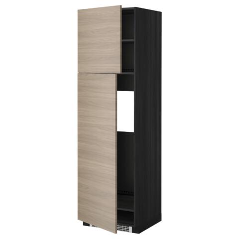 Высокий шкаф для холодильника, 2 дверцы МЕТОД черный артикуль № 399.254.44 в наличии. Интернет сайт ИКЕА Беларусь. Быстрая доставка и монтаж.