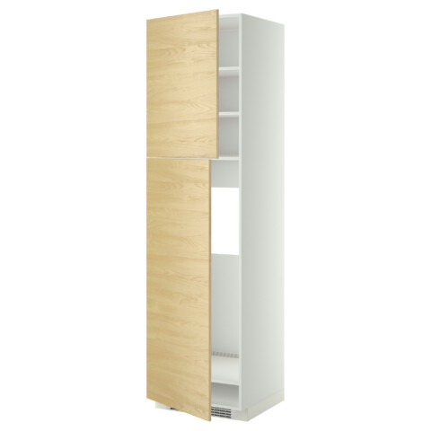 Высокий шкаф для холодильника, 2 дверцы МЕТОД белый артикуль № 499.250.28 в наличии. Интернет каталог ИКЕА РБ. Недорогая доставка и соборка.