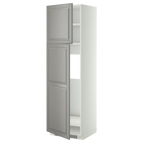 Высокий шкаф для холодильника, 2 дверцы МЕТОД белый артикуль № 499.256.55 в наличии. Online магазин IKEA Беларусь. Быстрая доставка и монтаж.