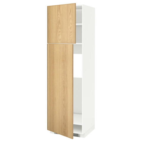 Высокий шкаф для холодильника, 2 дверцы МЕТОД белый артикуль № 590.532.99 в наличии. Интернет сайт ИКЕА Республика Беларусь. Быстрая доставка и соборка.