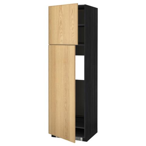 Высокий шкаф для холодильника, 2 дверцы МЕТОД черный артикуль № 690.983.63 в наличии. Интернет магазин IKEA Беларусь. Недорогая доставка и соборка.
