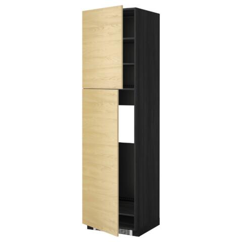 Высокий шкаф для холодильника, 2 дверцы МЕТОД черный артикуль № 699.250.27 в наличии. Online каталог ИКЕА РБ. Быстрая доставка и монтаж.