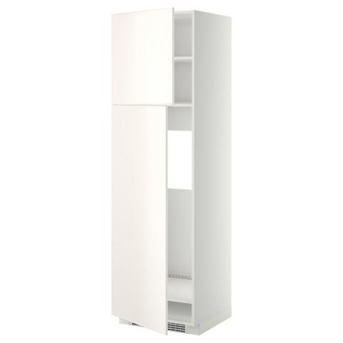 Высокий шкаф для холодильника, 2 дверцы МЕТОД белый артикуль № 799.207.03 в наличии. Online каталог IKEA Республика Беларусь. Быстрая доставка и установка.