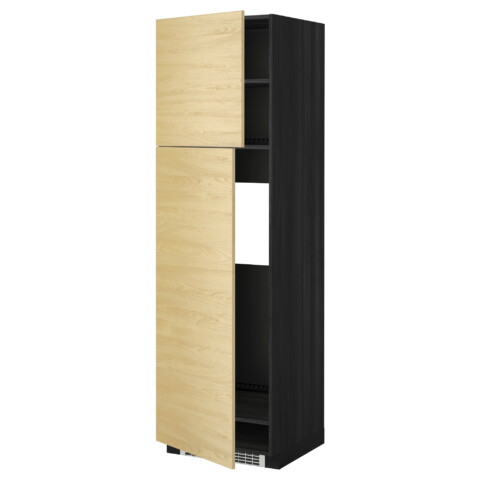 Высокий шкаф для холодильника, 2 дверцы МЕТОД черный артикуль № 799.250.17 в наличии. Online сайт ИКЕА Беларусь. Недорогая доставка и соборка.