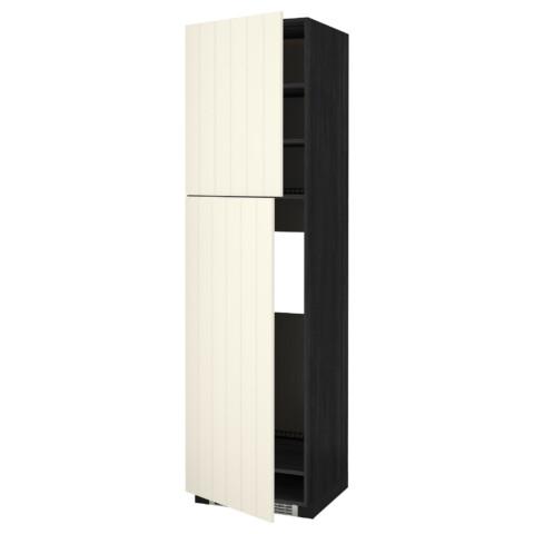 Высокий шкаф для холодильника, 2 дверцы МЕТОД черный артикуль № 990.555.88 в наличии. Online магазин ИКЕА РБ. Недорогая доставка и соборка.