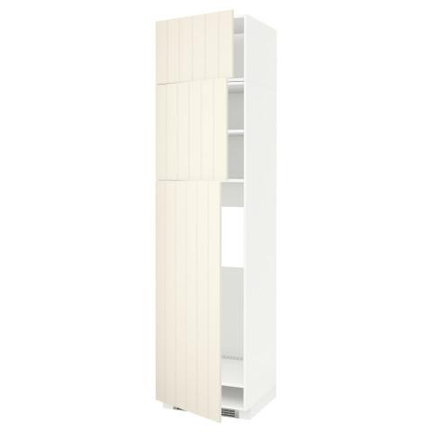 Высокий шкаф для холодильника, 3 дверцы МЕТОД белый артикуль № 990.541.69 в наличии. Online магазин ИКЕА Республика Беларусь. Быстрая доставка и установка.