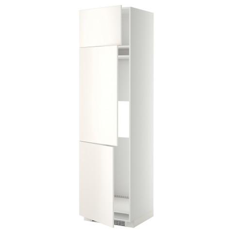 Высокий шкаф для холодильника или морозильника, с 3 дверями МЕТОД белый артикуль № 099.207.11 в наличии. Онлайн каталог IKEA Беларусь. Недорогая доставка и монтаж.